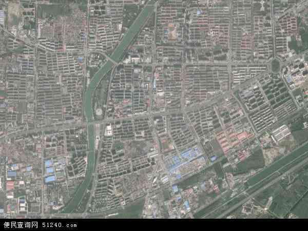 中国北京市密云县密云镇地图(卫星地图)