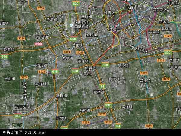 闵行区地图 - 闵行区卫星地图