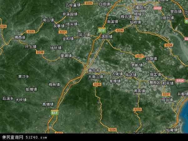 普宁市高清卫星地图 普宁市2016年卫星地图 中国广东省揭阳市普宁