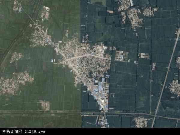 中国山东省菏泽市郓城县潘渡镇地图(卫星地图)