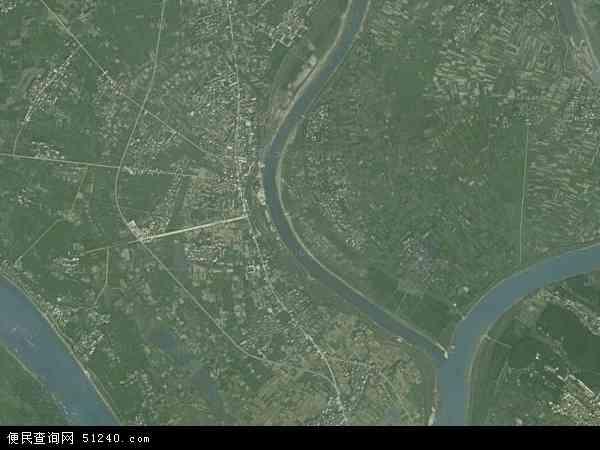中国江西省上饶市鄱阳县饶埠镇地图(卫星地图)