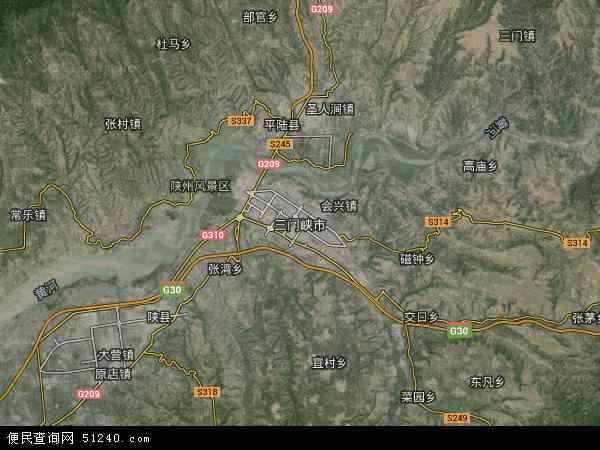 三门峡市地图 - 三门峡市卫星地图