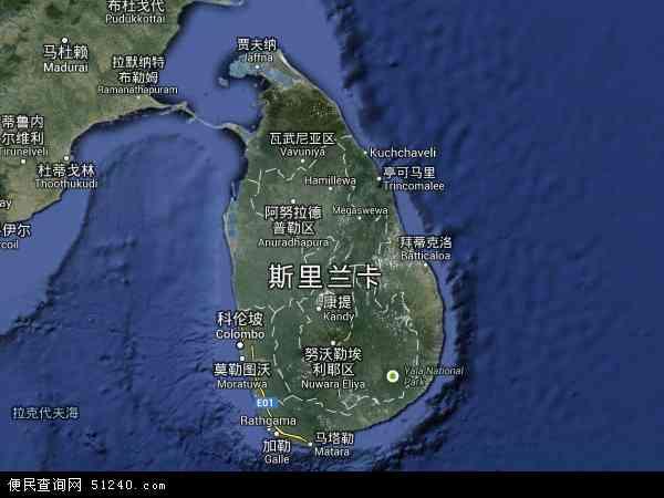 斯里兰卡北斗卫星地图2016,部分地区可以实现高清2016看到人与高清