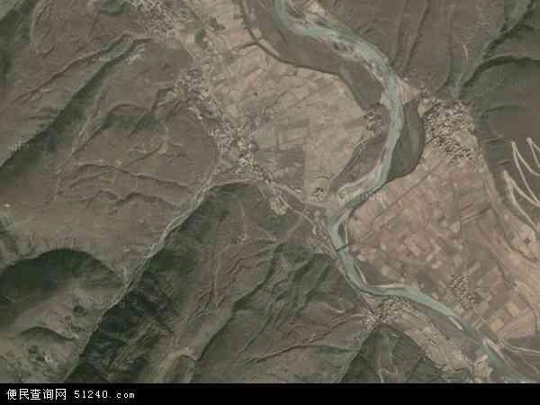 中国四川省甘孜藏族自治州炉霍县斯木乡地图(卫星地图)