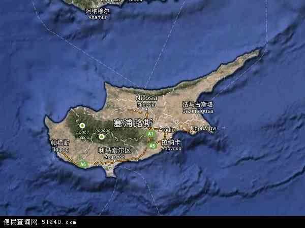 塞浦路斯卫星地图 - 塞浦路斯高清卫星地图 - 塞浦路斯高清航拍地图 - 2016年塞浦路斯高清卫星地图