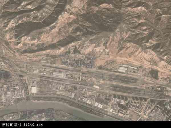 中国甘肃省兰州市安宁区沙井驿地图(卫星地图)
