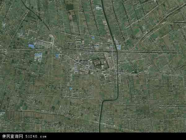 中国江苏省南通市海门市四甲镇地图(卫星地图)