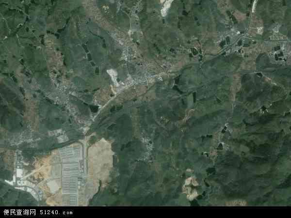 中国广东省云浮市云城区思劳镇地图(卫星地图)