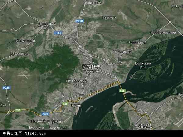 俄罗斯萨拉托夫地图(卫星地图)