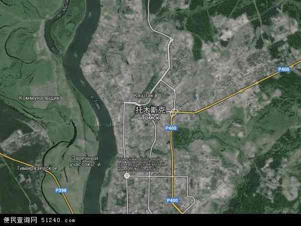 2015年托木斯克高清卫星地图