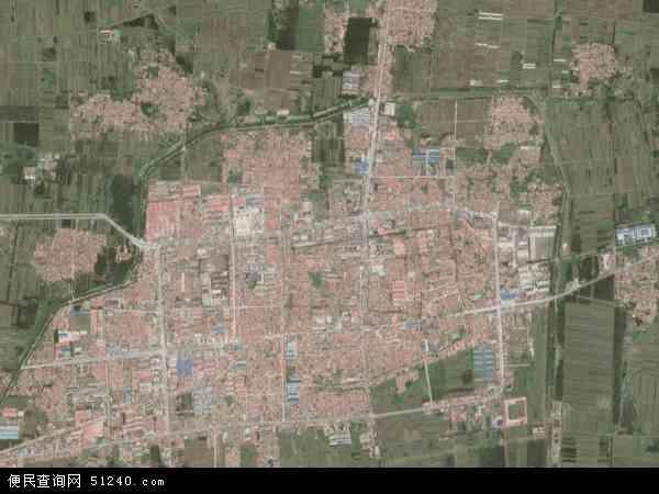 中国河北省廊坊市文安县文安镇地图(卫星地图)
