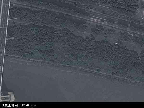 中国广东省广州市番禺区小谷围地图(卫星地图)