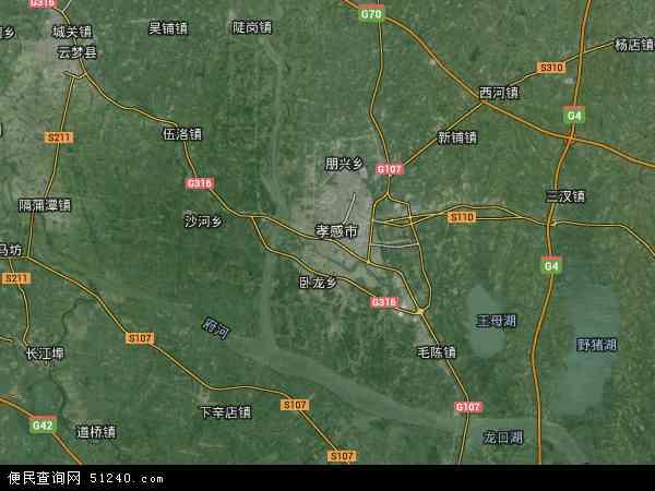 中国湖北省孝感市孝南区地图(卫星地图)