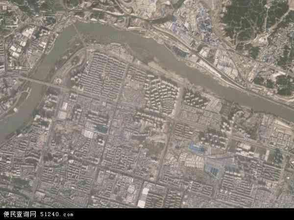 中国甘肃省兰州市城关区雁北地图(卫星地图)