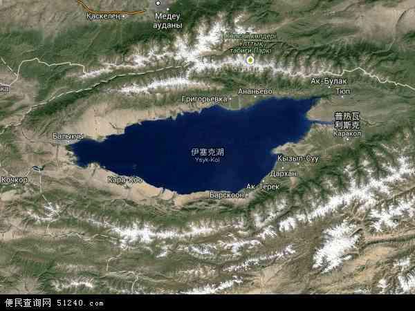 伊塞克湖高清航拍地图