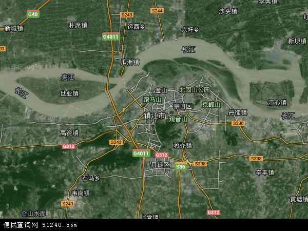 镇江市高清航拍地图