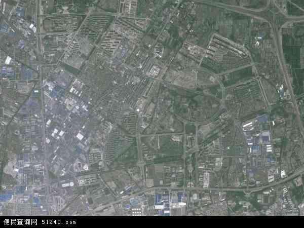 中国浙江省宁波市镇海区庄市地图(卫星地图)