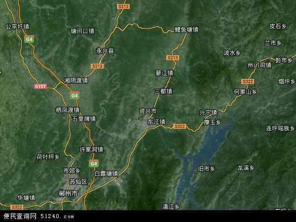 资兴市高清卫星地图 资兴市2015年卫星地图 中国湖南省郴州市资兴