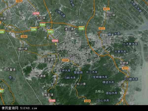 中山市地图 - 中山市卫星地图