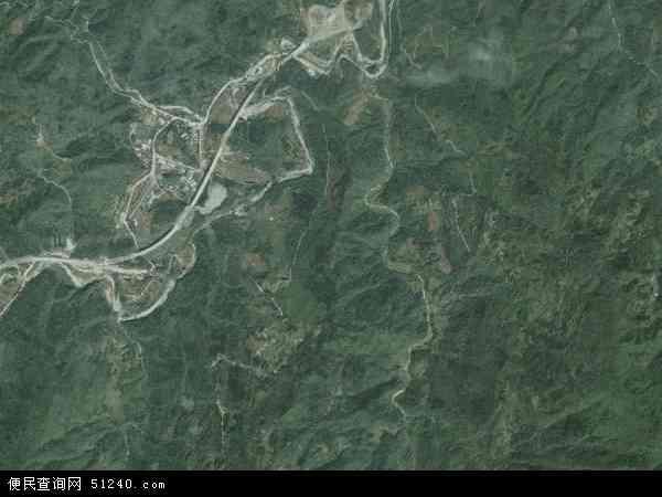 中国湖北省襄阳市谷城县紫金镇地图(卫星地图)