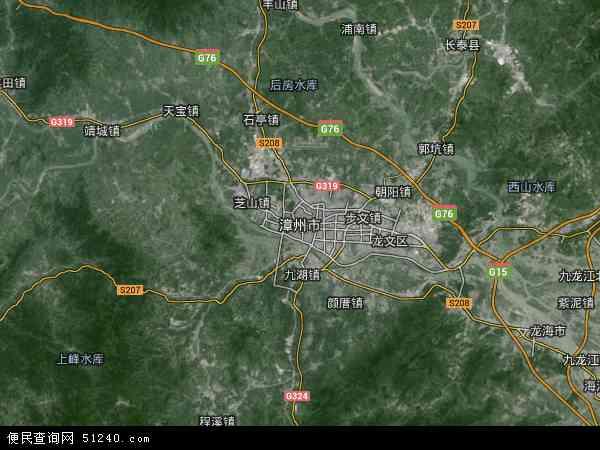 中国福建省漳州市地图(卫星地图)