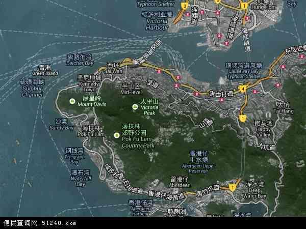 中西区高清卫星地图 中西区2016年卫星地图 中国香港中西区地图