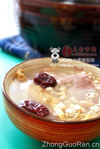 花旗参薏米汤-汤煲菜谱-菜谱-肉桂家常-天菜谱怎样做调味品图片