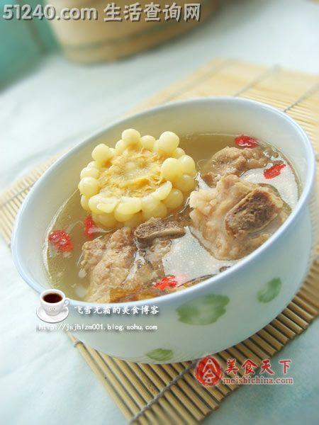 滋阴补肌,强筋菜谱--菜谱排骨汤-汤煲玉米-菜婚宴株洲壮骨图片