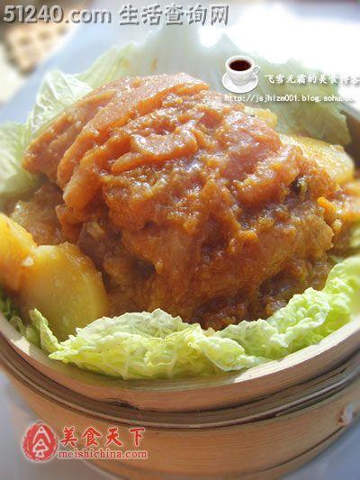 粉蒸肉-热菜菜谱-菜谱-菜谱家常-天天饮食坐月子可以吃午餐肉呀图片