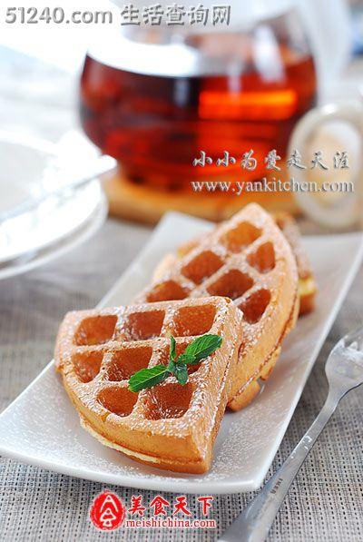 蜂蜜酸奶华夫饼(Honey Yogurt Waffle) - 糕点小吃 - 菜谱 ...