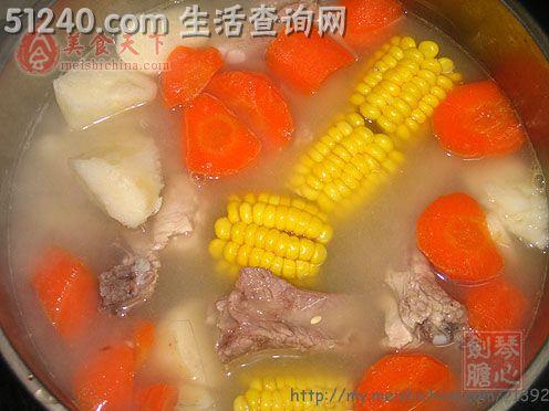 鲜菜谱粟米排骨汤-汤煲菜谱-家常-菜谱淮山小宝宝可以吃羊肚菌图片