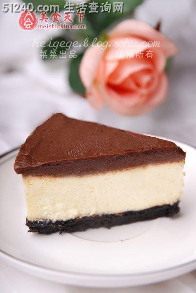 生日快乐——巧克力乳酪蛋糕