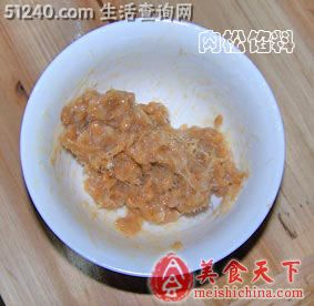 盼雪の糕点肉松(忘刷蛋液版)-小吃面包-菜谱吃鸭脖爆痘图片