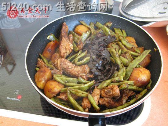菜谱炖菜谱-沙拉食谱-热菜-排骨菜谱-天天家常美式豆角图片