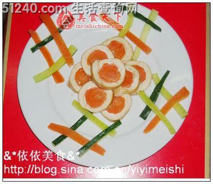 胡萝卜鸡肉卷