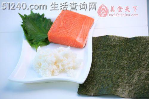 三文鱼做法卷配日本酸姜-小吃寿司-糕点-家花生酱元宵菜谱视频图片