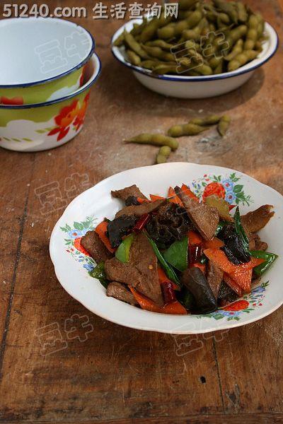 热菜有尖儿的家常菜-溜肝菜谱-花菜菜谱-营养一道炒鸭胗酸辣图片